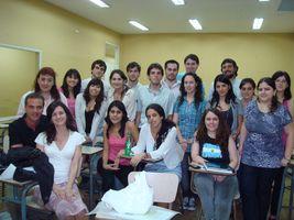 Con los profesores Esteban Oknaian y Milagros Montell